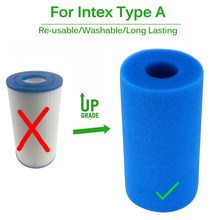Foam Filter Sponge Reusable Biofoam Cleaner Water Cartridge Sponges for Intex Type A re-used Cleaning Swimming Pool Accessories(China)