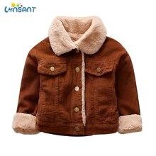 LONSANT Детские куртки пальто для детей Детское теплое пальто с отложным воротником с длинным рукавом из искусственного меха кнопки для меха Лоскутная Верхняя одежда для детей, пальто N30