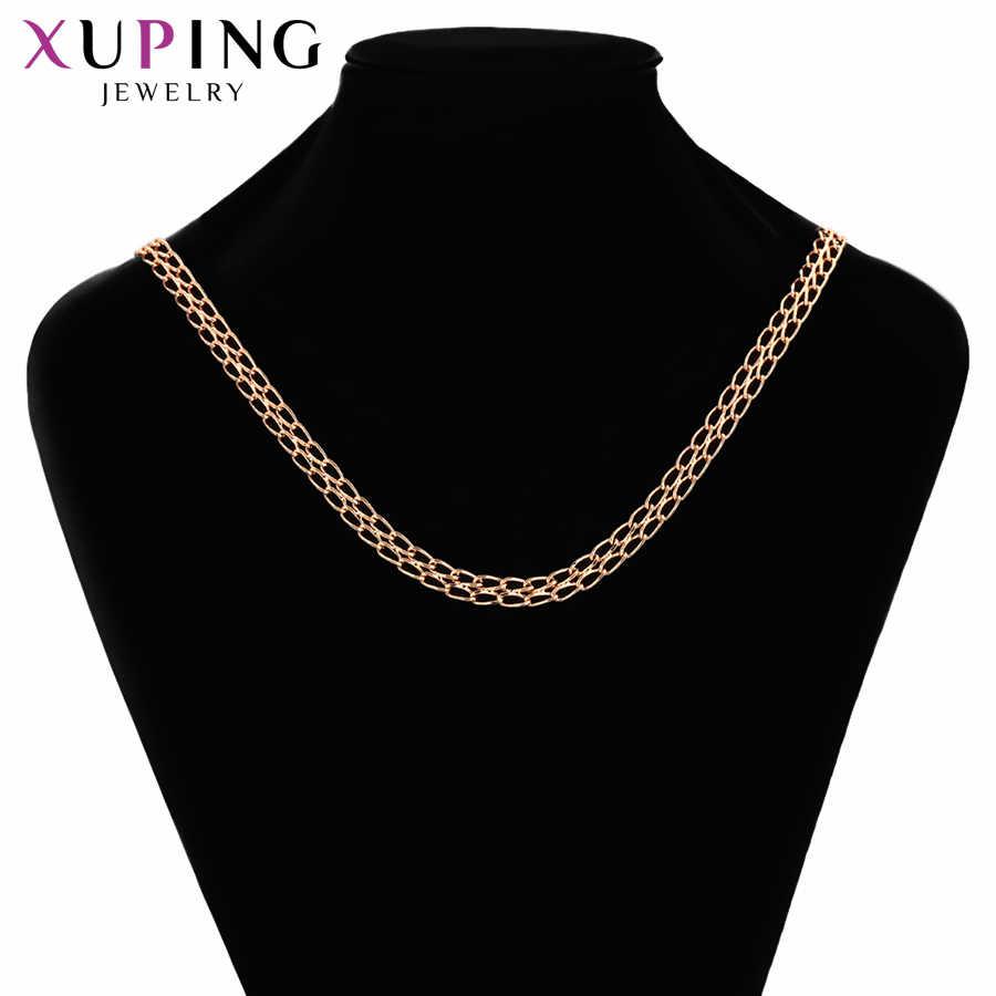 Xuping modny naszyjnik styl wisiorka różowe złoto kolorowy platerowany dla kobiet mężczyzn walentynki biżuteria prezenty S115, 7-45052