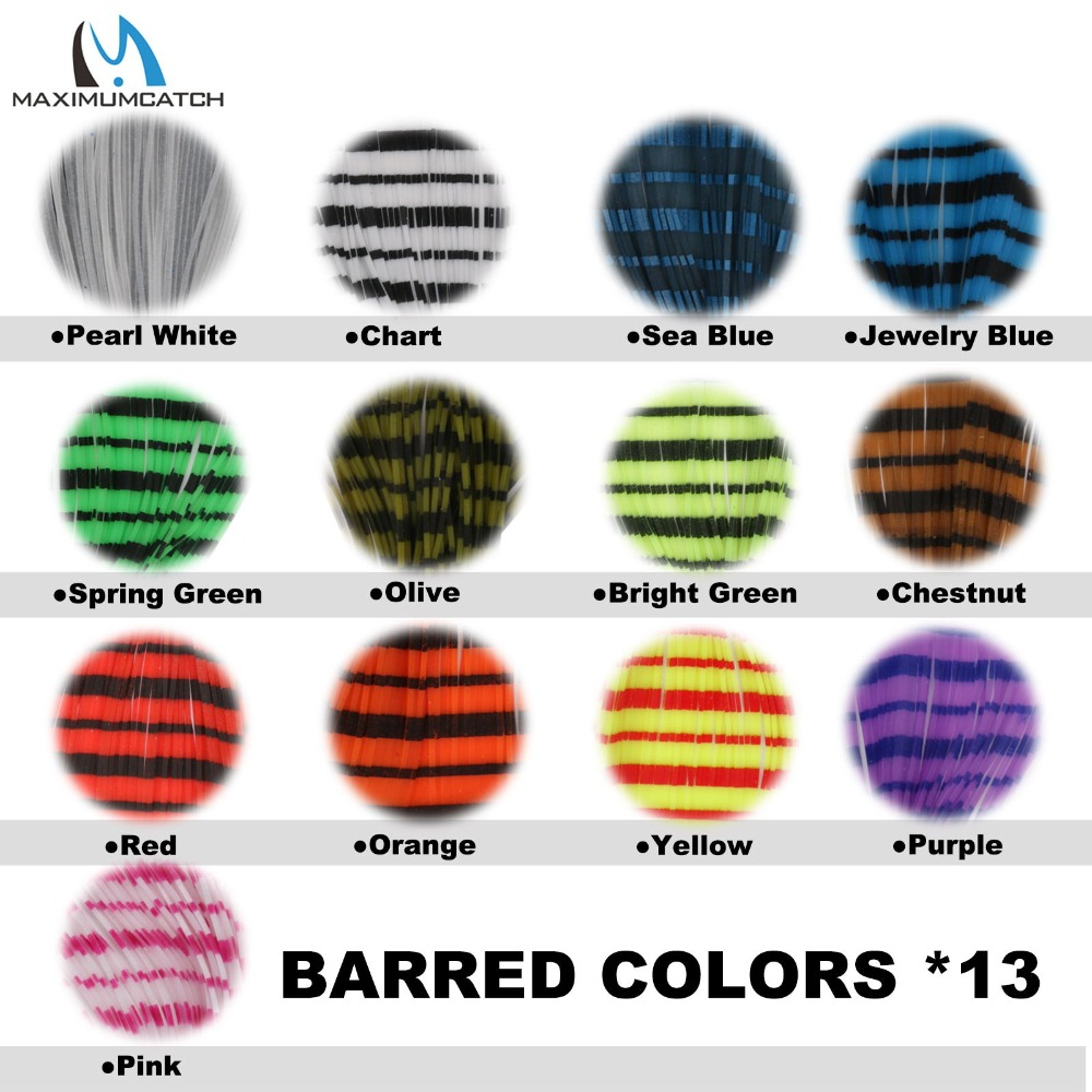 Lot 20 Variety Pack Rubber Crazy Legs Silicone Skirts for Fly Tying
