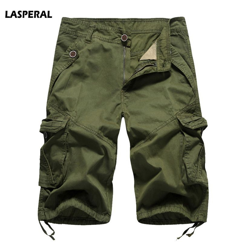 LASPERAL Mens Military Cargo Shorts 2018 Brand New Army Camouflage Tactical Shorts Men Cotton Loose Work Casual Short Pants 40