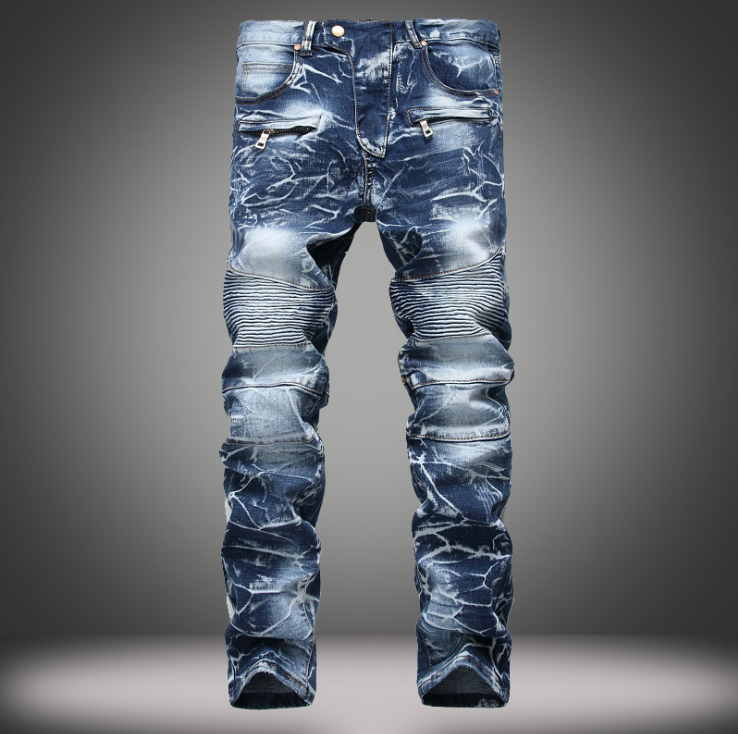 KLB Hip Hop Harem Joggers Pants Male Trousers Men Joggers Solid Multi-pocket Pants Elast ...