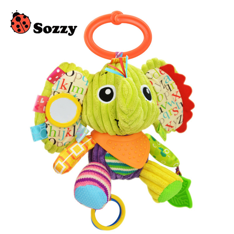 SOZZY 7 Multi Function Baby Rattle Bell Infant Baby Crib Stroller Hanging Toy