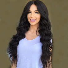 8A grade brazilian virgin hair full lace human hair wig body wave lace front wigs for black women 130 density free shipping