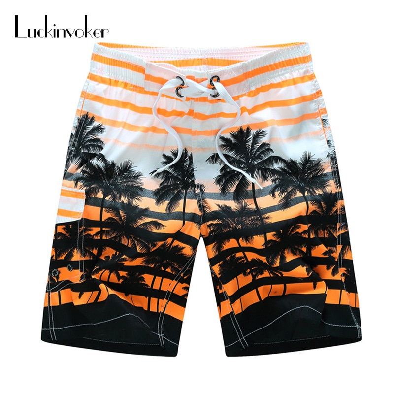Men Shorts M-6XL Plus Size Summer Shorts Men Quick Dry Thin Outdoor Beach Wear Lace-up Loose Surfing Board Shorts Men Swimwear