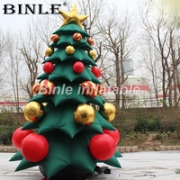 Customize artificial outdoor Xmax inflatable Christmas tree with gift box for party decoration 5m/16ft TALL