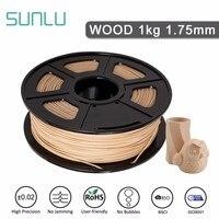 SUNLU 1.75mm Wood Filament Texture For 3D Printer Environmental Material Printing Wooden Craft 10% Wood Friber PLA Filament