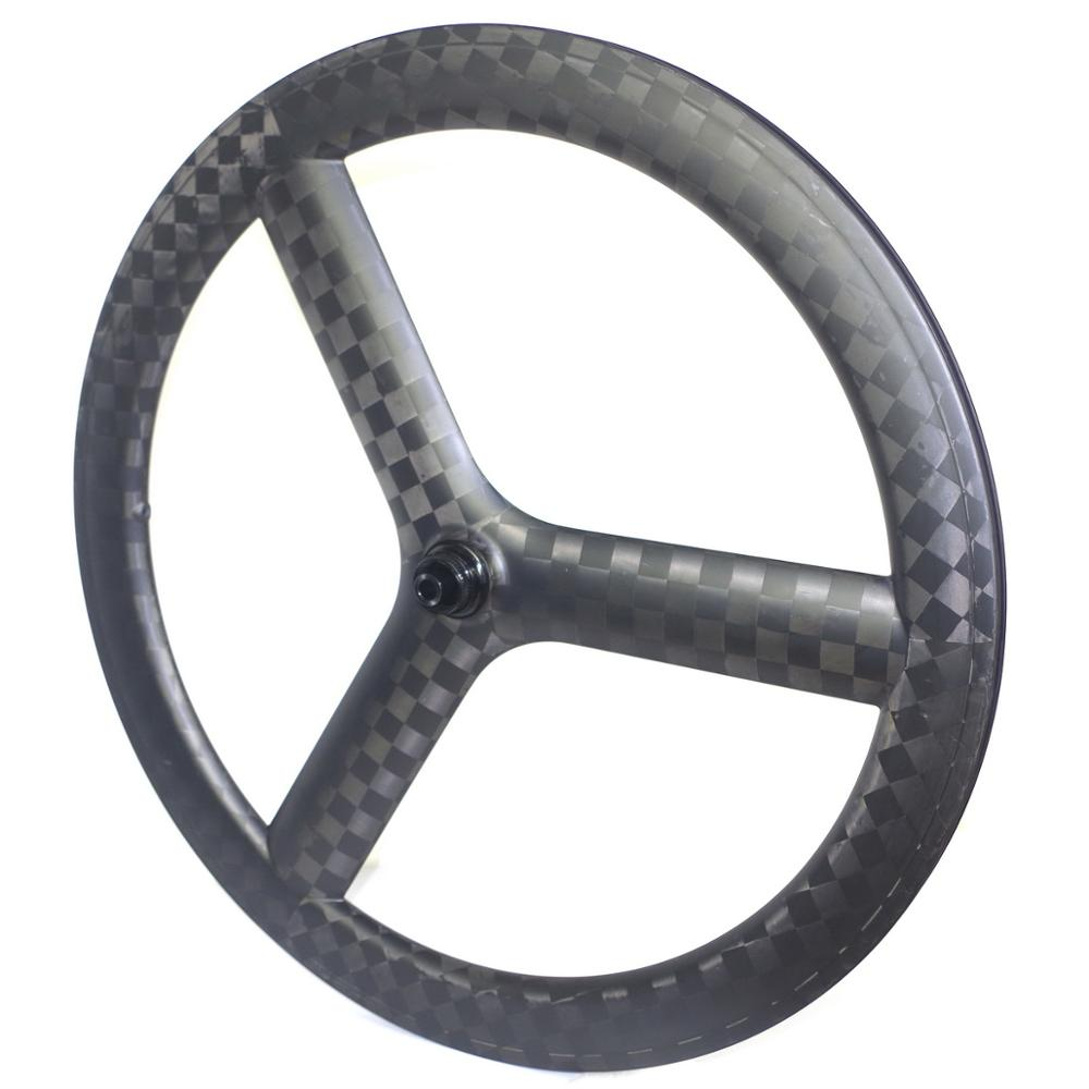 Tri spoke carbon road wheels disc brake 3 spoke road carbon wheelset tubular wheels carbon clincher