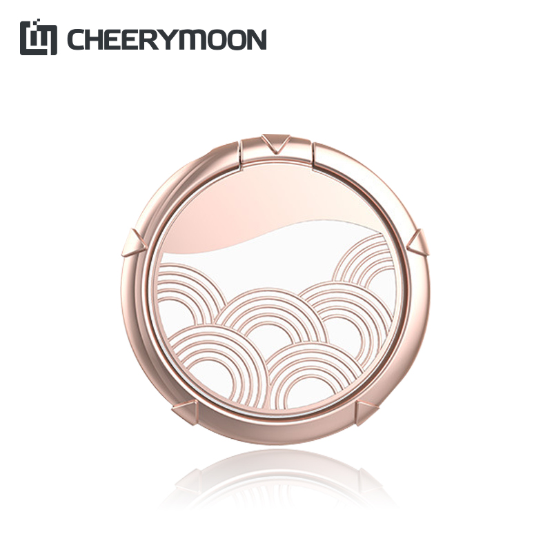 CHEERYMOON Clouds Series 360 Degree Metal Finger Ring Holder Smartphone Mobile Phone Finger Stand Holder For iPhone 8 7 Samsung