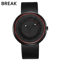Break Men S Women Top Luxury Brand Fashion Sports Analog Quartz Wristwatch Creative Unique Silicone Band