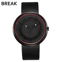 Break Men S Women Top Luxury Brand Fashion Sports Analog Quartz Wristwatch Creative Unique Silicone Band
