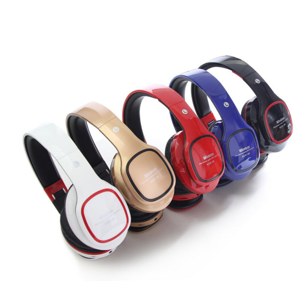 Wireless Headphone with Micro SD White Bluetooth Headset V4.1 handfree handset auriculares Blutooth for Iphone  Android Computer micro white