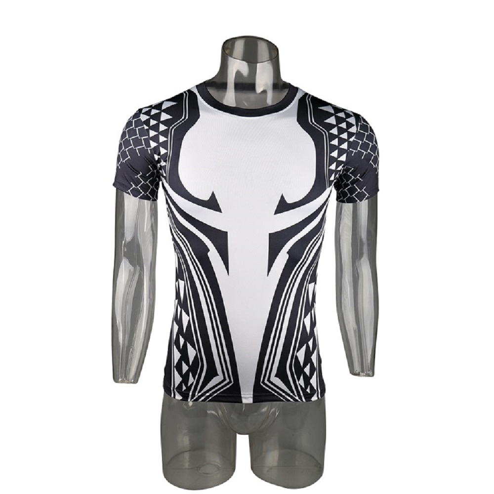Aquaman 3D Printed T shirts Men Compression Shirt 2018 Newest Character Cosplay Costume Short Sleeve Tops For Male Clothing