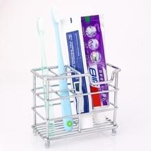 Ванная комната Нержавеющая сталь Зубная щётка держатель и держатель для зубной пасты для ванной комнаты хранения Организатор Зубная щётка мыльница, аксессуары для ванной комнаты