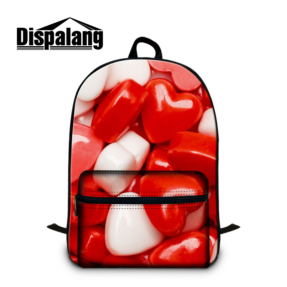 Dispalang Candy Printing Womens Laptop Backpack Girls Large School Bags For Teenager Casual Travel Shoulder Bag Mochila Feminina harajuku style ice cream printing backpack high middle school student shoulder bag backpack for teenager girls casual travel bag