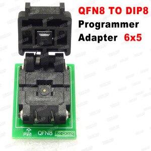 Image 3 - QFN8 to DIP8 โปรแกรมเมอร์อะแดปเตอร์ WSON8 DFN8 MLF8 to DIP8 ซ็อกเก็ตสำหรับ 25xxx 6x5 3x2 8x6 มม.= 1.27 มม