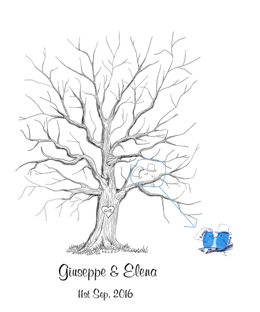 Aliexpress Com Buy Personalized Wedding Tree Guest Book