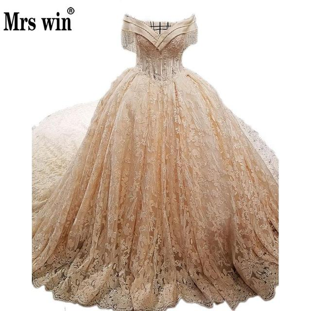 Champagne and Gold Ball Gowns