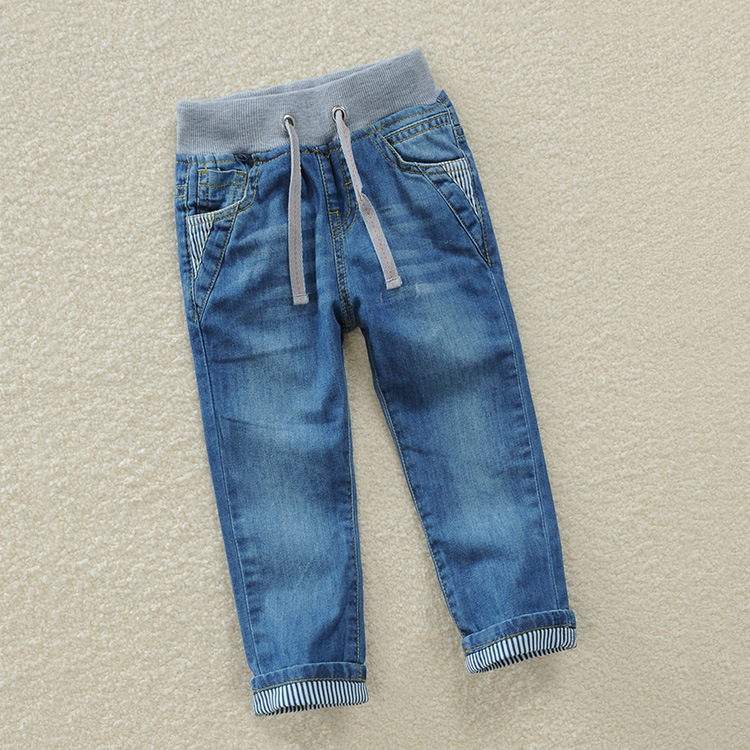 Children Jeans Boys Pants Fit For Spring Baby Boy Jeans Kids Trousers 2 3 4 5 6 7 8 9 10 11 12 Years Old Cotton Autumn spring autumn new cool jeans boys children baby old pants denim pants tide 2 7 ages free shipping loose straight casual solid