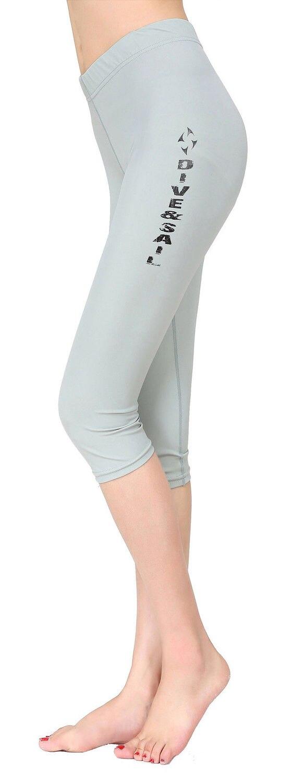 Женская Мокрые одежды спорта людей Подводное плавание дайвинг Подрезанные Штаны спортивные fitnell Кальсоны йоги - Цвет: Light Gray