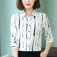 Womens Tops and Blouses Silk Blouse Long Sleeve Shirt Satin Feminino Ladies Fashion Plus Size 4XL