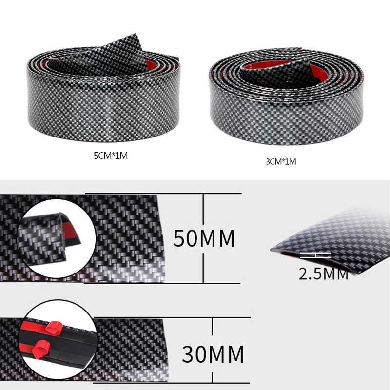 Модель углеродного волокна заднего бампера протектор Стикеры для Kia Rio K2 K3 Ceed Sportage 3 sorento cerato подлокотник picanto optima