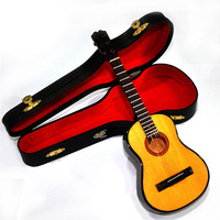 MoonEmbassy Acoustic Guitar Model Musical Instrument Miniature Desk Decor Display Realistic Music Lover Birthday Gift