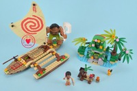 SY855 Princess Moana Ocean Voyage Building Blocks Classic For Girls Friends Kids Model Toys Moana Building