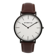 Кварца Япония Мода Для мужчин Простой Минималистский часы женский, черный ультра тонкий кожаный сетки Нержавеющаясталь магнит ремешок antibrittle