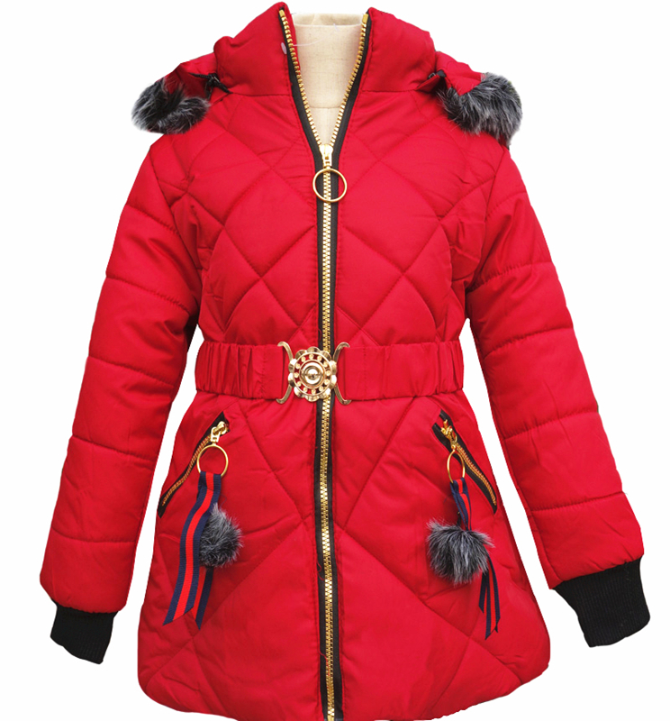 2018 Baby Girls Clothes Children Winter Thick Warm Slim Waistband Girl Cotton Down Jacket Coats 12m 6y baby girl clothes zipper winter jacket girl coats cotton padded warm kid parka thick girls jackets children down outwear