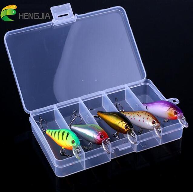 HENGJIA 5pcs/box Plastic Wobbler Minnow with Magnet Fishing <font><b>Lures</b></font> Set Kit 7.6g Lifelike Pike Trout Baits for Shallow Lake