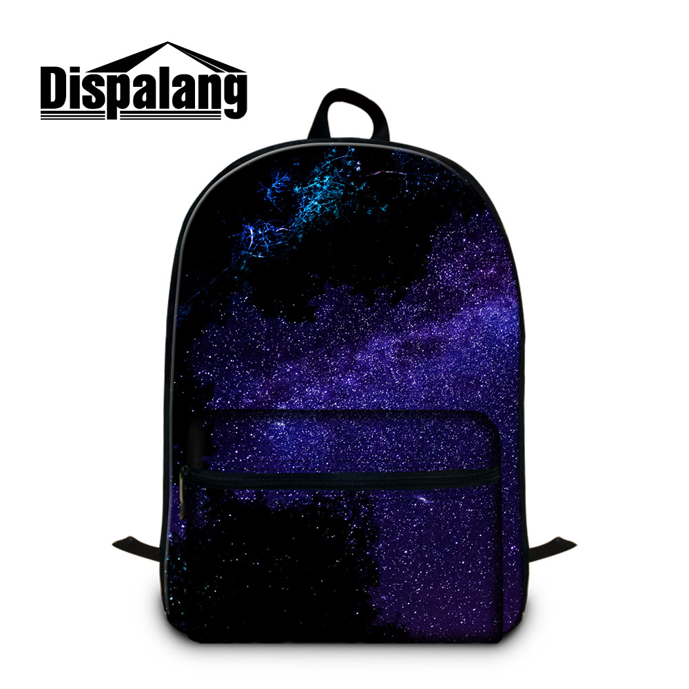 Dispalang Cotton Women Backpack Universez Galaxy School Bags For Teenagers Laptop Backpack Female Rucksack Mochilas Feminina dispalang creative stars print kids schoolbag felt laptop backpack for men women school bag for children galaxy student rucksack