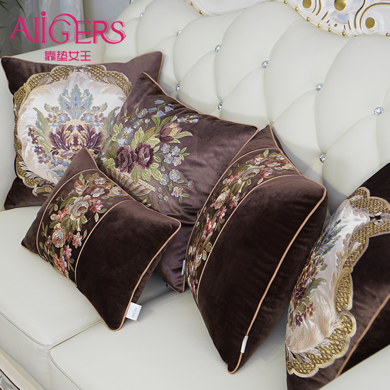 Avigers Luxury Thicken Velvet Cushion Cover Embroidery