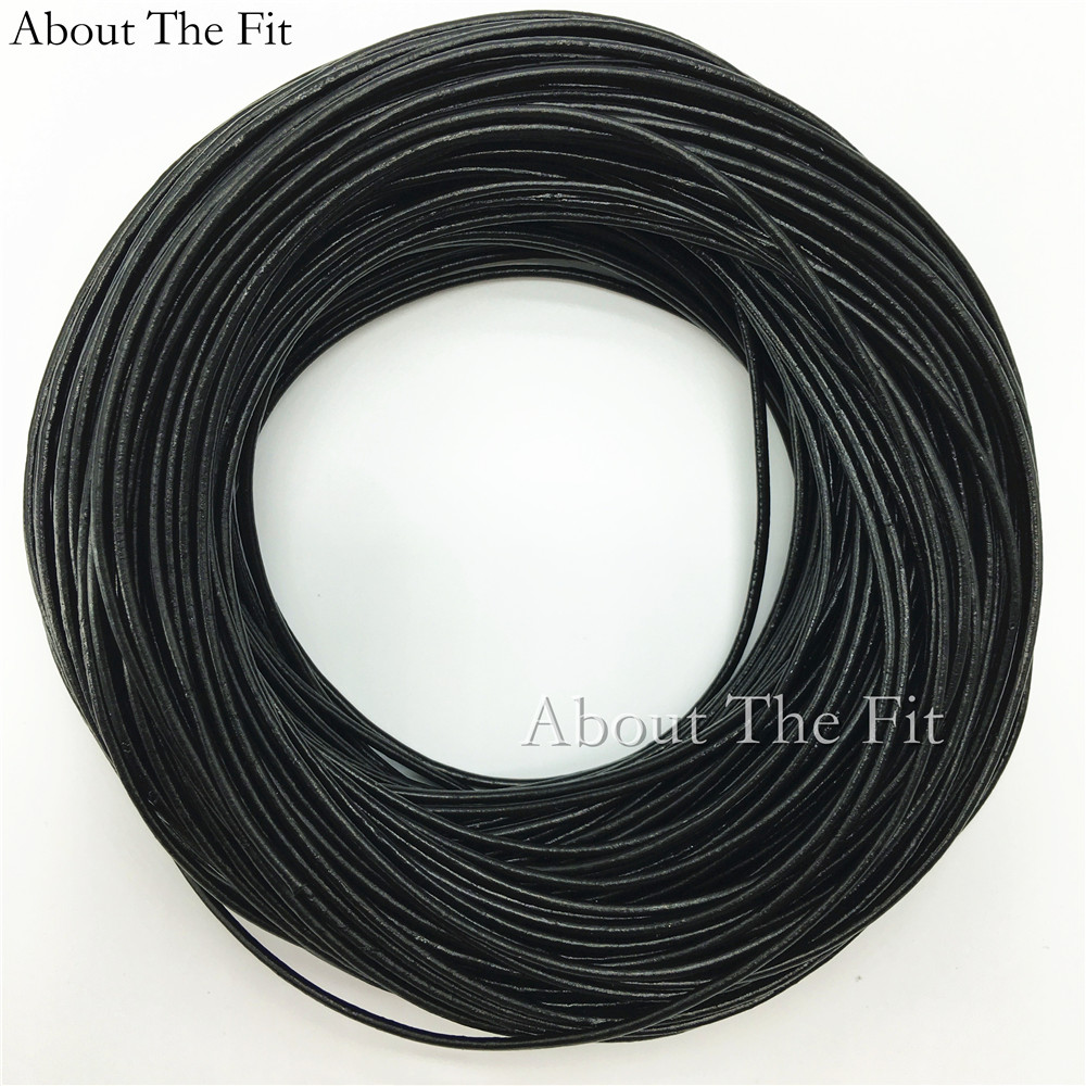 Genuine Cow Leather Cords 2.5mm 100M Jewelry Making Handcrafts Necklace Bracelet Beading Ropes Clothing Tag Line About the Fit