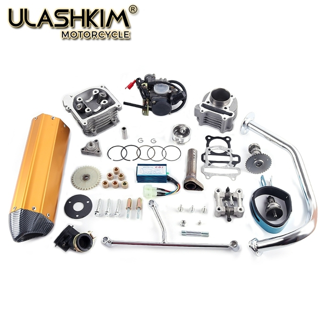 GY6 50/80 upgrade 100 50mm QMB139 4 STROKE 137qma 139qmb CYLINDER KIT Head  Camshaft Rollers Oil Gear Rings Arms Assemly