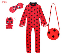 2019 childrens Halloween costumes ladybug girls conjoined cosplay costume