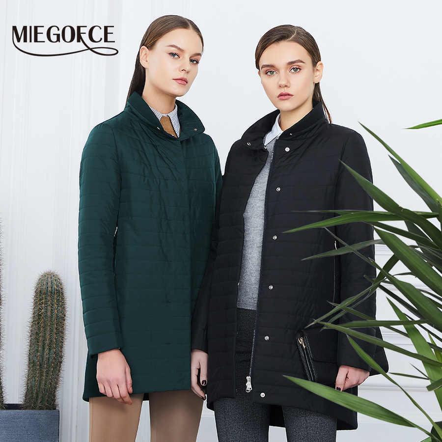 MIEGOFCE 2019 Die Neue Frühjahr Sammlung Warme frauen Jacke Mit EINE Stehende Kragen Einfache frau Stepp Mantel mom stilvolle modell