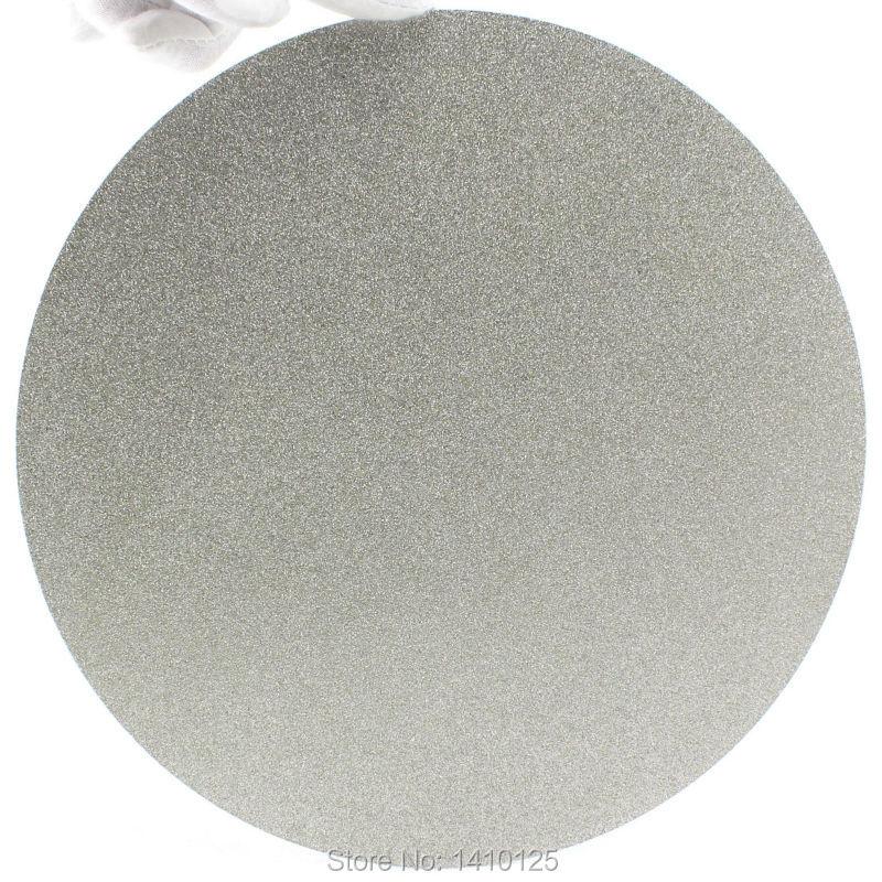 NO CENTER HOLE 10 inch 250mm Grit 80 Diamond coated Flat Lap Disk Grinding Polish wheel Coarse 6 inch lapidary concave arc diamond coated grinding wheel grind spherical 6 mm ilovetool