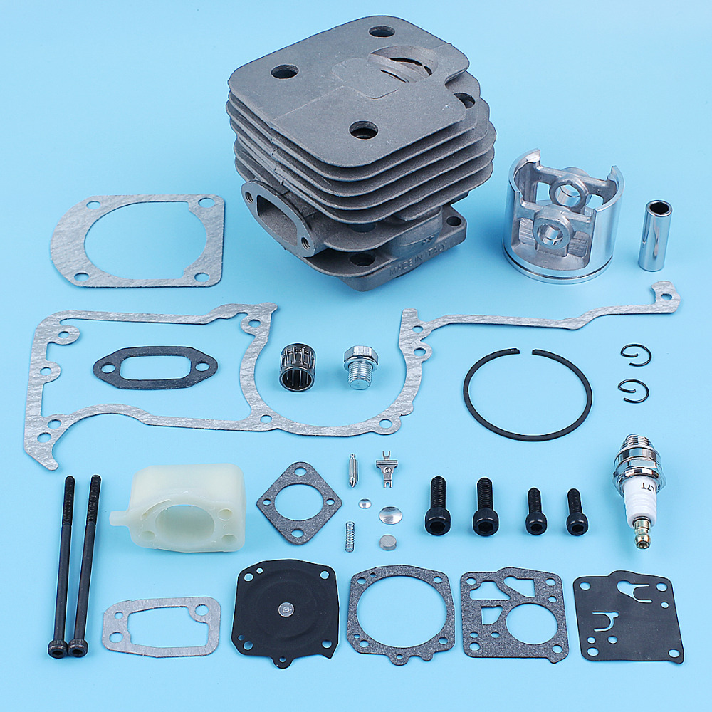 52mm Big Bore Nikasil Cylinder Piston Gasket Carb Repair Kit For Jonsered 630 Super Chainsaw Decompression Valve Spare Part