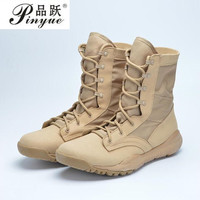 2018 Ultralight Men Army Boots Military Shoes Combat Tactical Ankle Boots For Men Desert/Jungle Boots Outdoor Shoes Size 35 46