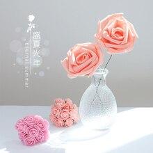 ピンクローズ人工泡の花イン写真撮影アクセサリー写真スタジオの小道具リングジュエリー化粧品写真の背景