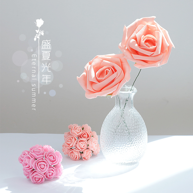 Pink Rose Artificial Foam Flower ins Photography Accessories Photos Studio Props for Rings Jewelry Cosmetic photography Backdrop