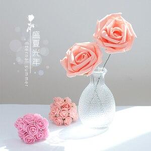 Image 1 - Rose Rose artificielle mousse fleur ins photographie accessoires Photos Studio accessoires pour bagues bijoux cosmétique photographie toile de fond