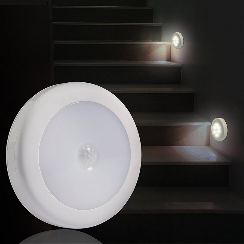 DONWEI IR Motion Sensor 6 LED Night Light Wireless Detector Wall Lights Auto On/Off Battery Lamp For Hallway Pathway Staircase