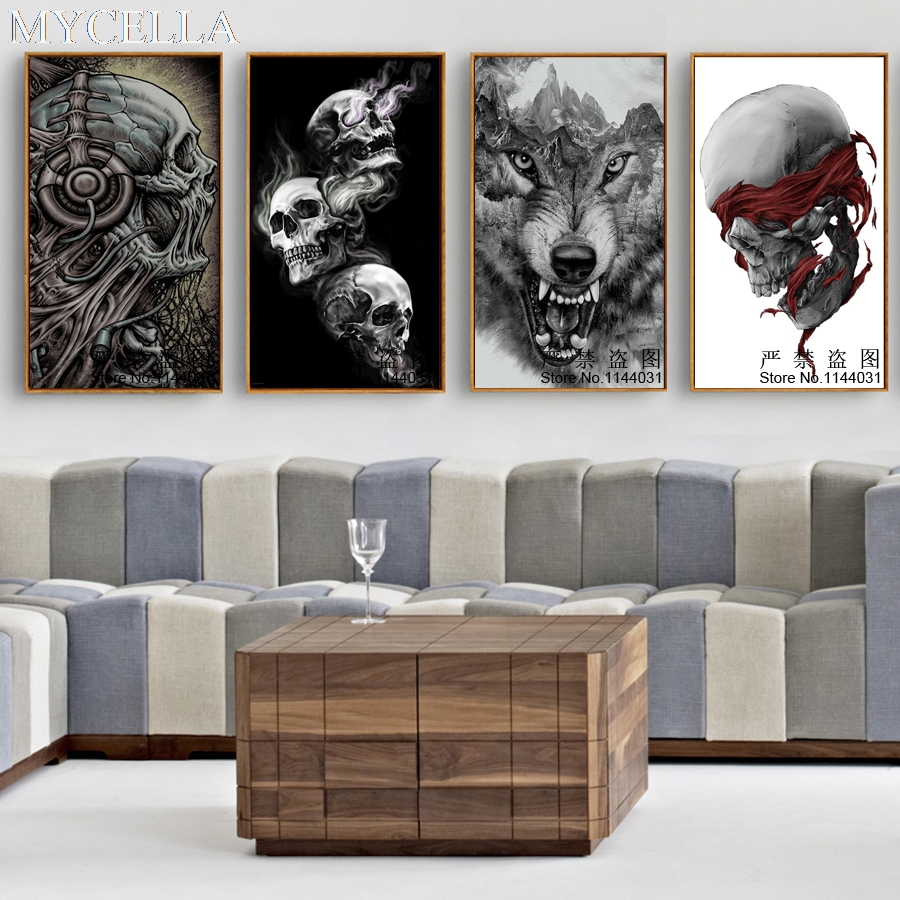 MYCELLA 3D Full Resin Square Diamond Painting Diy Diamond Embroidery Skull And Wolf Needlework Mosaic Cross Stitch Home Crafts