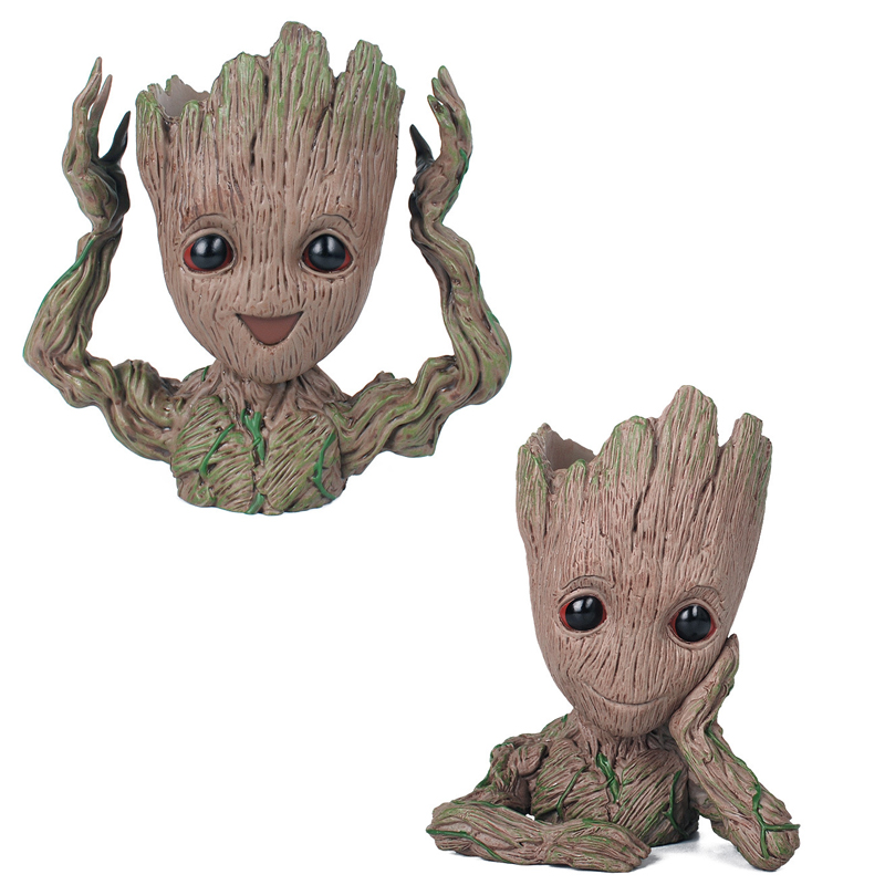 16cm Anime Figure Baby Grootted Guardians of The Galaxy 2 Tree Man Flower &Pen Pot Baby Figures Toys Collectible Model Toy Gift