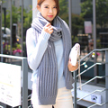 Korean women wool scarf female winter thick long lovers knitted scarf female male warm students Scarves & Wraps