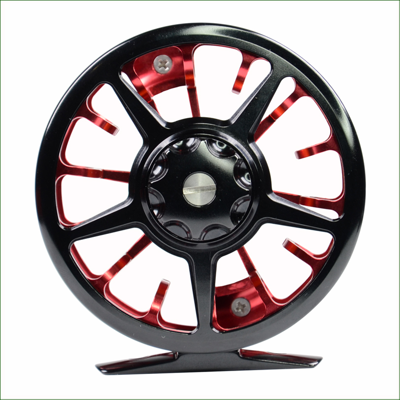 Double Color fly fishing reel FN 6061Aluminium CNC machined fly reel Dengan Large Arbor Changed easily from right to left