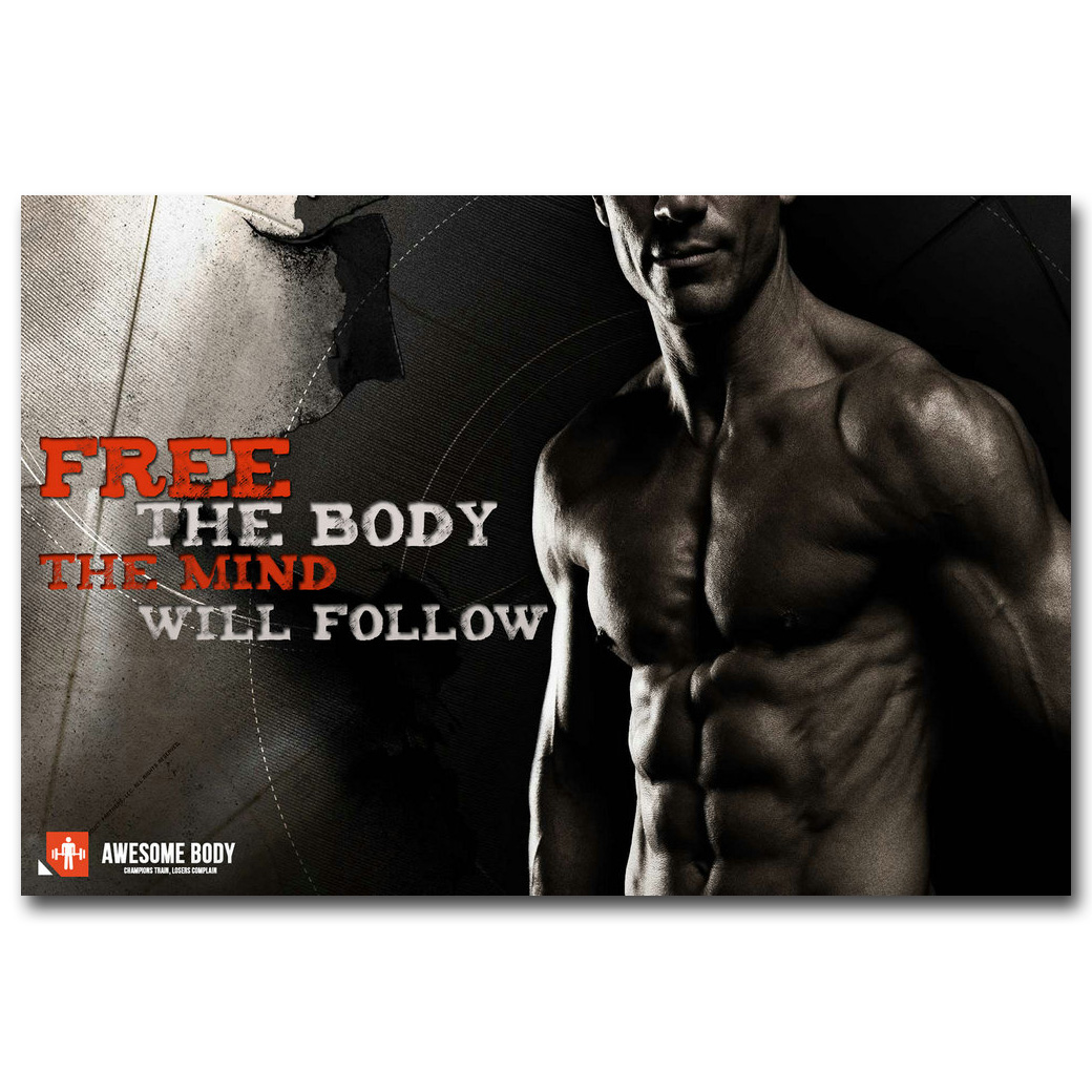 Bodybuilding Motivational Quote Art Silk Poster Print 13x20 24x36 Inch  Fitness Exercise Picture For Modern Gym Room Decor 059 In Painting U0026  Calligraphy From ...