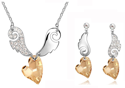 Angel Wing Earrings Jewelry (necklace, bracelet, earrings)